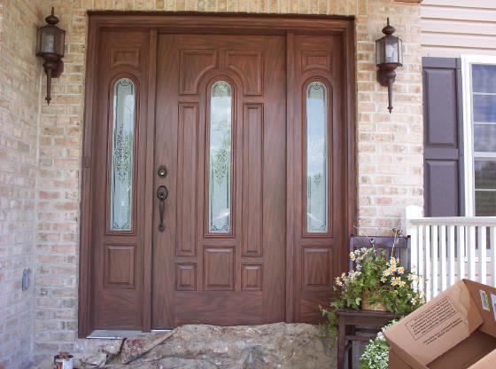 Fiberglass Doors That Look Like Wood : Cabinets pine steel door